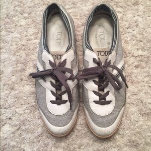 Tod's Grey & White Sneakers